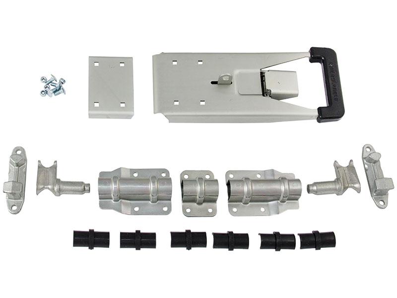 Запор штанговый (нержавеющая сталь) под трубу 22 мм ручка PUSH (Арт.: 9006SS)
