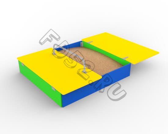 Песочница с крышкой 2м х 2м ( 351.04.01)