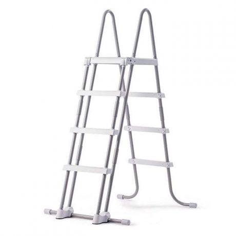 Intex 28076, Лестница для бассейнов до 122 см, 3 ступеньки, с площадкой, с защитой