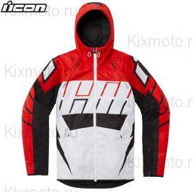 Куртка Icon Airform Retro, Бело-красная