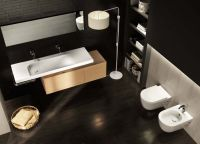 Мебельная накладная или подвесная раковина Hatria Grandagolo 130х50 схема 3