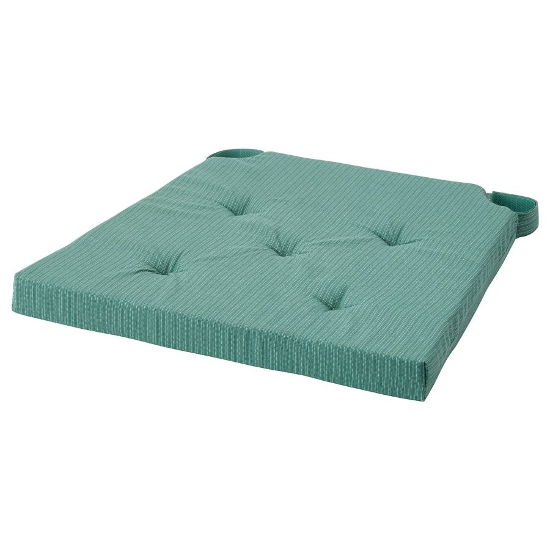 JUSTINA ЮСТИНА, Подушка на стул, серо-бирюзовый, 42/35x40x4 см - 904.912.54