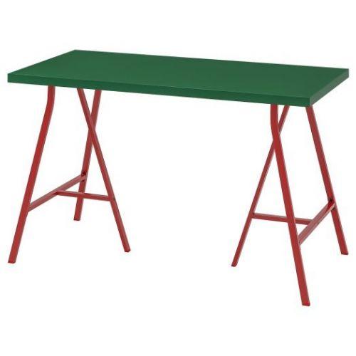LINNMON ЛИННМОН / LERBERG ЛЕРБЕРГ, Стол, зеленый/красный, 120x60 см - 693.308.28