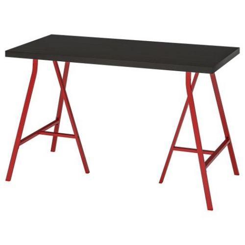 LINNMON ЛИННМОН / LERBERG ЛЕРБЕРГ, Стол, черно-коричневый/красный, 120x60 см - 593.308.19