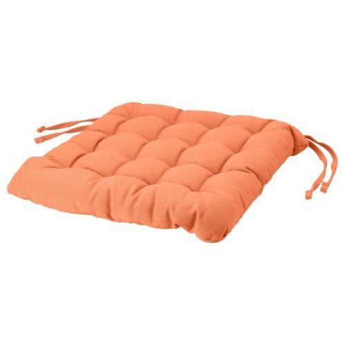 VIPPART ВИППЭРТ, Подушка на стул, оранжевый, 38x38x6.5 см - 104.869.30