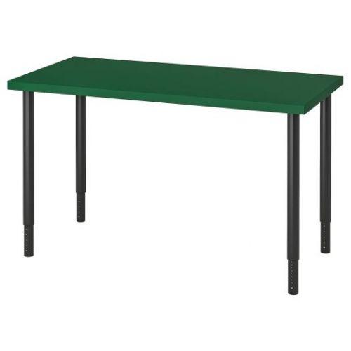LINNMON ЛИННМОН / OLOV ОЛОВ, Стол, зеленый/черный, 120x60 см - 093.355.17