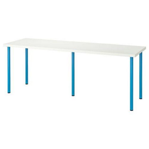 LINNMON ЛИННМОН / ADILS АДИЛЬС, Стол, белый/синий, 200x60 см - 592.790.38
