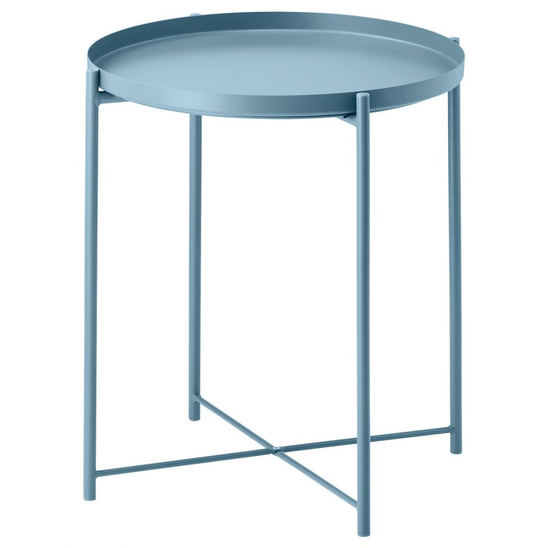 GLADOM ГЛАДОМ, Стол сервировочный, синий, 45x53 см - 704.119.94