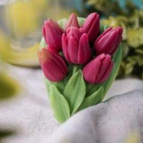Силиконовая форма для мыла Букет тюльпанов