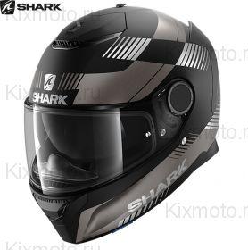 Шлем Shark Spartan Strad, Черный матовый с серым