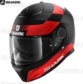 Шлем Shark Spartan Strad, Черный матовый с красным