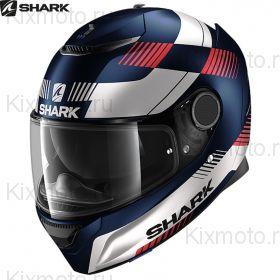 Шлем Shark Spartan Strad, Синий матовый с красным