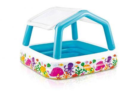 Intex 57470, надувной детский бассейн Океан, с навесом