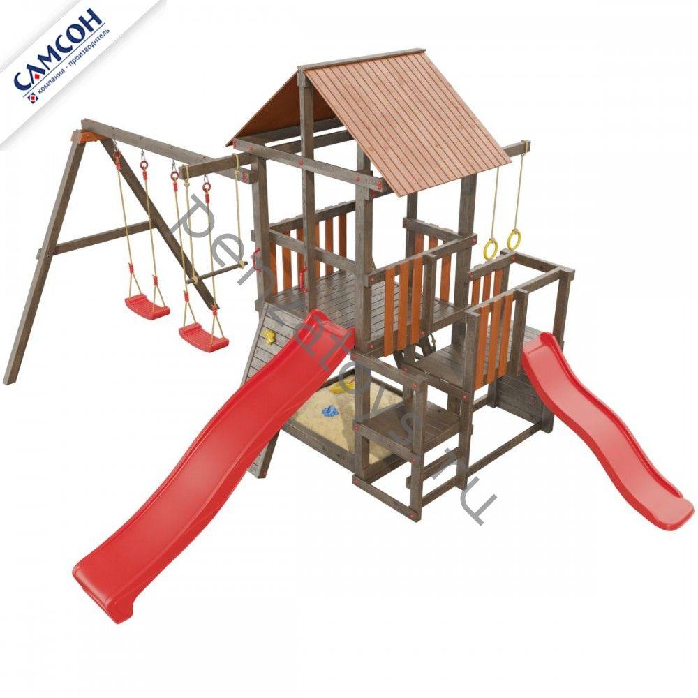 Детская игровая площадка Сибирика с двумя горками