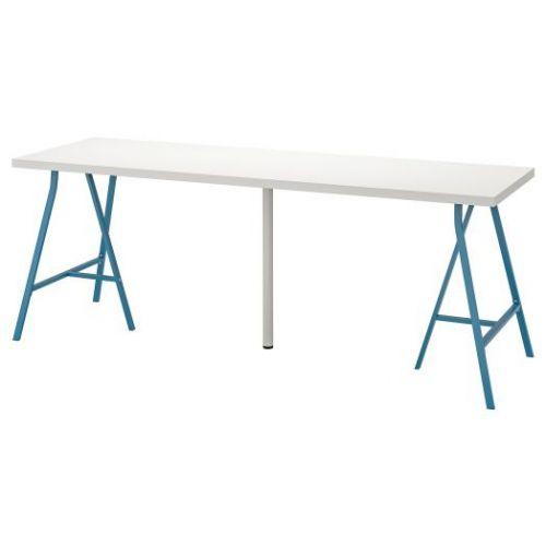 LINNMON ЛИННМОН / LERBERG ЛЕРБЕРГ, Стол, белый/синий, 200x60 см - 693.355.57
