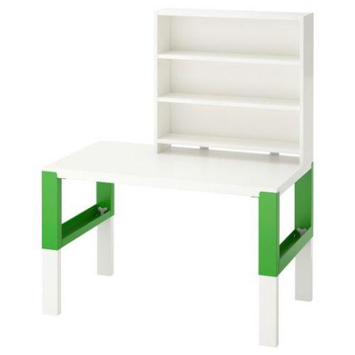 PAHL ПОЛЬ, Письменн стол с полками, белый/зеленый, 96x58 см - 992.784.14
