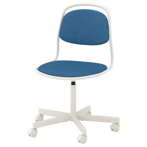ORFJALL ОРФЬЕЛЛЬ, Рабочий стул, белый/Висле синий - 393.030.44