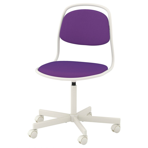 ORFJALL ОРФЬЕЛЛЬ, Рабочий стул, белый/Висле фиолетовый - 893.030.70