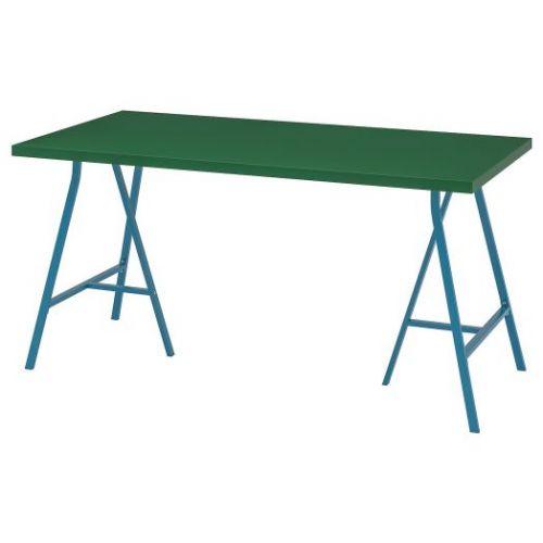 LINNMON ЛИННМОН / LERBERG ЛЕРБЕРГ, Стол, зеленый/синий, 150x75 см - 193.310.24