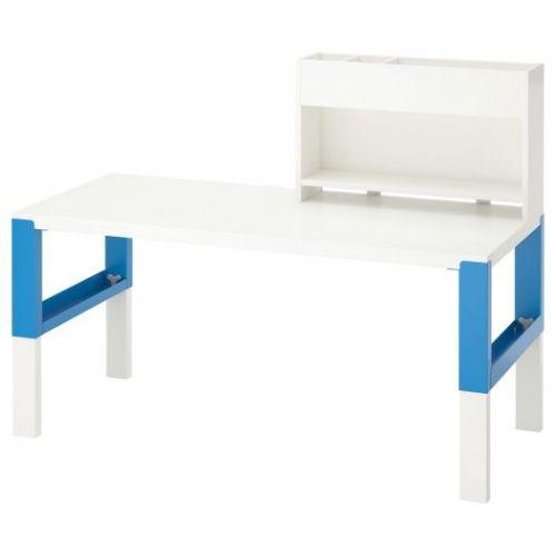 PAHL ПОЛЬ, Стол с дополнительным модулем , белый/синий, 128x58 см - 692.512.65