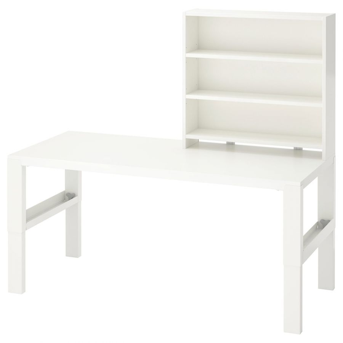 PAHL ПОЛЬ, Письменн стол с полками, белый, 128x58 см - 392.784.26