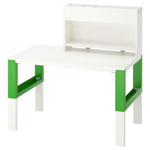 PAHL ПОЛЬ, Стол с дополнительным модулем , белый/зеленый, 96x58 см - 392.784.12
