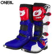 Ботинки ONeal Rider Pro, Синие с красным