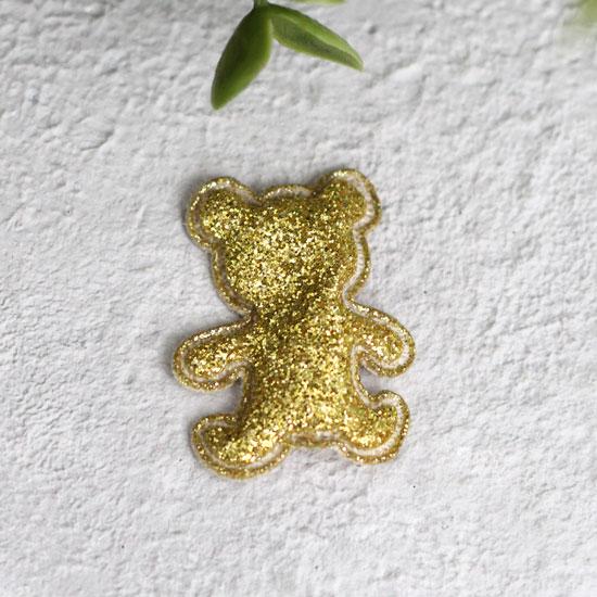 Кукольный аксессуар - Патч золотой мишка 2,6*3,3 см.
