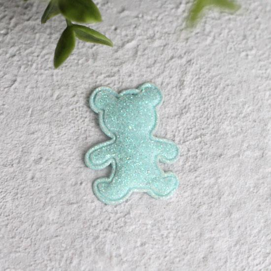 Кукольный аксессуар - Патч мятный мишка 2,6*3,3 см.