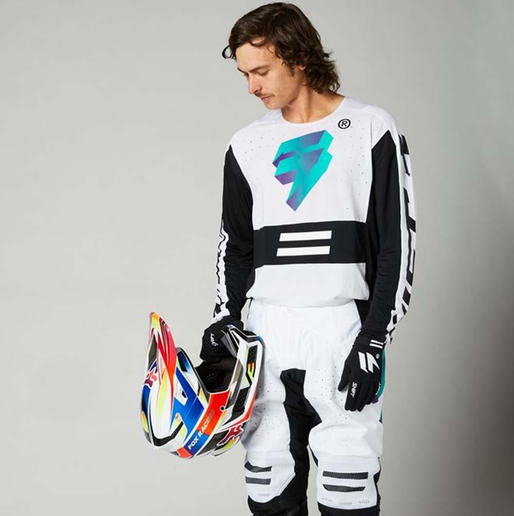 Shift Black Label UV White/Ultraviolet джерси и штаны для мотокросса