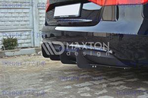Накладка с ребрами на диффузор Audi A4 B8 рестайл