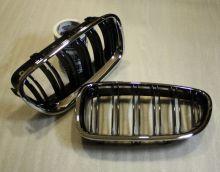 Ноздри решетки BMW F10 F11 10-15 двойные с хром рамкой