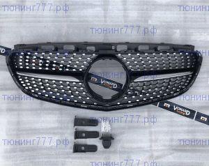 Решетка радиатора DIAMOND Mercedes W212 13-17 чёрная