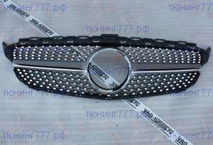 Решетка радиатора Mercedes C W205 14-18 Diamond