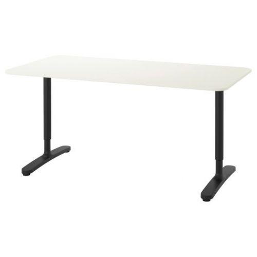 BEKANT БЕКАНТ, Письменный стол, белый/черный, 160x80 см - 292.786.34