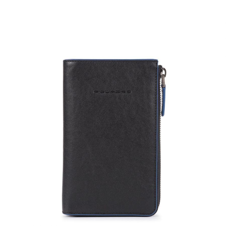 Портмоне Piquadro AC5469B2SR/N с отсеком для мобильного телефона чёрное