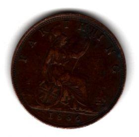 Великобритания 1 фартинг 1886
