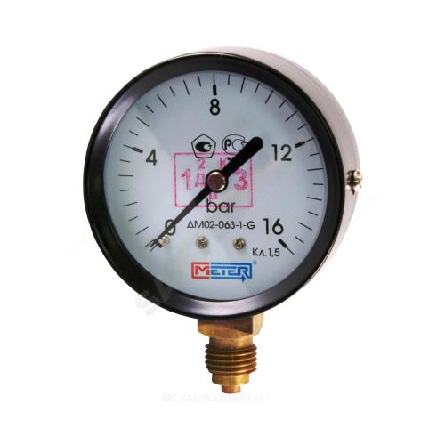 Манометр ДМ02-63-1 радиальный Дк63мм 0-10 кгс/см2 М12х1,5 Метер