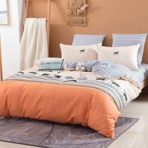Комплект постельного белья Делюкс Сатин L381