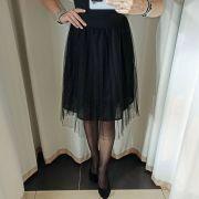 Черная юбочка пачка с черным блеском