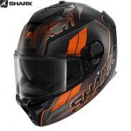 Шлем Shark Spartan GT Ryser,  Черно- оранжевый