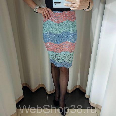 Модная кружевная юбка с подкладом