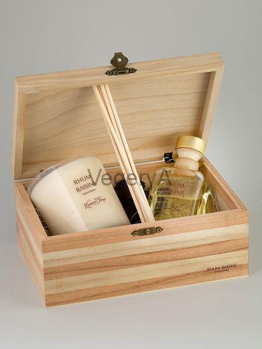Подарочный набор деревянный сундучок (РЕВЕНЬ) LUMIERES
