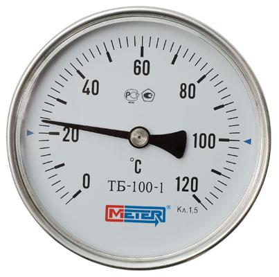 Термометр Метер ТБ-063-1 (с латунной гильзой G1/2) шток 80 мм