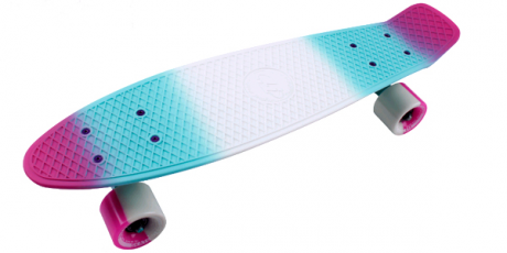 Скейтборд пластик Multicolor 22 pink/sea blue 1/4 TSL-401M