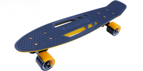 Скейтборд пластиковый Shark 22 blue/yellow