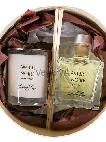 Подарочный набор ароматный (ЧЁРНАЯ АМБРА) LUMIERES