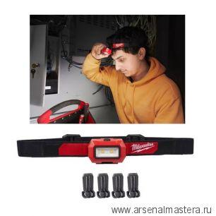 Налобный фонарь легкий на батарейках HL2-LED MILWAUKEE 4933471286