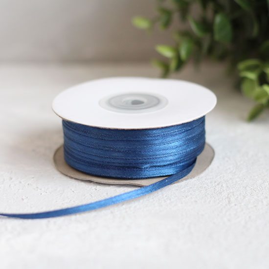 Лента атласная 3 мм, синяя