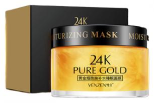 Крем-маска ночная с ниацинамидом 24k Pure Gold 120 гр Venzen